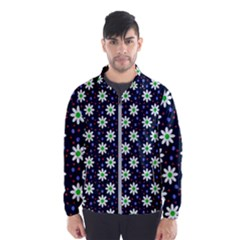 Daisy Dots Navy Blue Wind Breaker (men) by snowwhitegirl