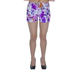Ultra Violet,shabby Chic,flowers,floral,vintage,typography,beautiful Feminine,girly,pink,purple Skinny Shorts by 8fugoso
