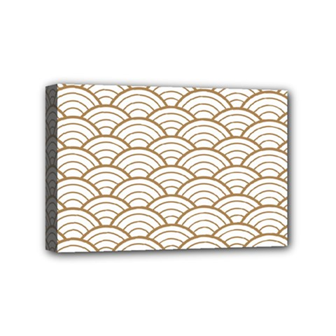 Gold,white,art Deco,vintage,shell Pattern,asian Pattern,elegant,chic,beautiful Mini Canvas 6  X 4  by 8fugoso