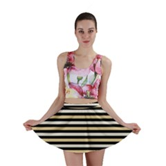 Black And Gold Stripes Mini Skirt by jumpercat