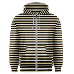 Black And Gold Stripes Men s Zipper Hoodie by jumpercat