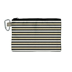 Black And Gold Stripes Canvas Cosmetic Bag (medium) by jumpercat
