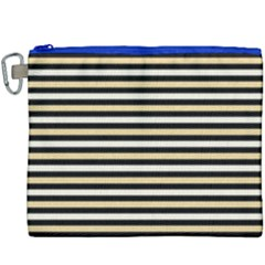 Black And Gold Stripes Canvas Cosmetic Bag (xxxl) by jumpercat
