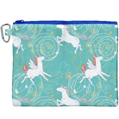 Magical Flying Unicorn Pattern Canvas Cosmetic Bag (xxxl) by allthingseveryday