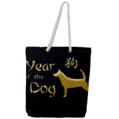 Year Of The Dog   Chinese New Year Full Print Rope Handle Tote (large) by Valentinaart