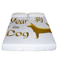 Year Of The Dog   Chinese New Year Fitted Sheet (california King Size) by Valentinaart