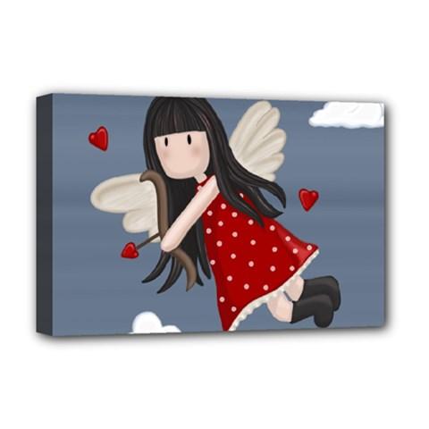 Cupid Girl Deluxe Canvas 18  X 12   by Valentinaart