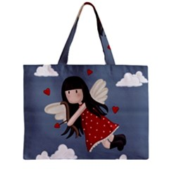 Cupid Girl Zipper Mini Tote Bag by Valentinaart