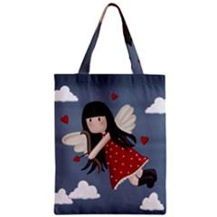 Cupid Girl Zipper Classic Tote Bag by Valentinaart