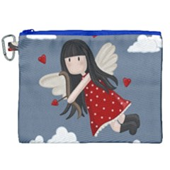 Cupid Girl Canvas Cosmetic Bag (xxl) by Valentinaart