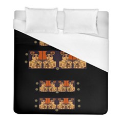 Geisha With Friends In Lotus Garden Having A Calm Evening Duvet Cover (full/ Double Size) by pepitasart