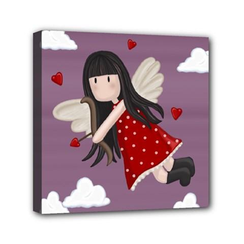 Cupid Girl Canvas Travel Bag by Valentinaart