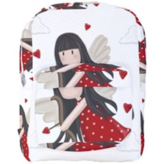 Cupid Girl Full Print Backpack by Valentinaart