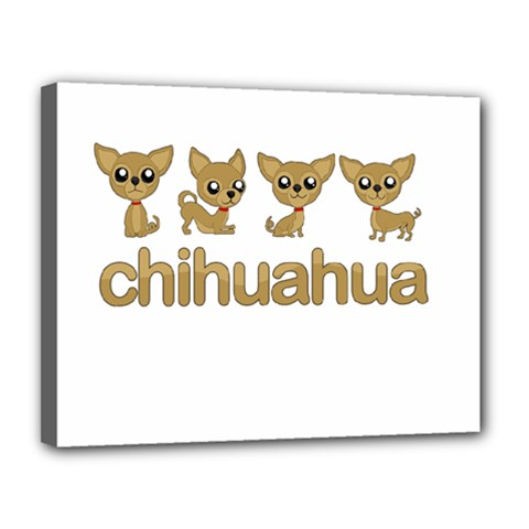 Chihuahua Canvas 14  X 11  by Valentinaart
