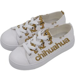 Chihuahua Kids  Low Top Canvas Sneakers by Valentinaart