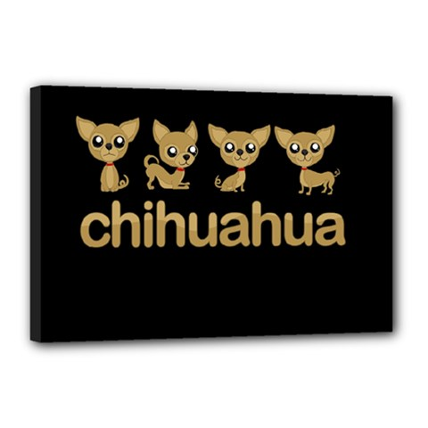 Chihuahua Canvas 18  X 12  by Valentinaart