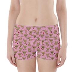 Chihuahua Pattern Boyleg Bikini Wrap Bottoms