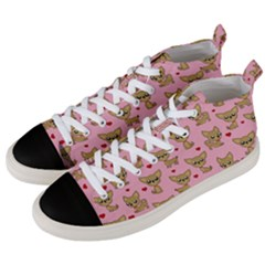 Chihuahua Pattern Men s Mid Top Canvas Sneakers by Valentinaart