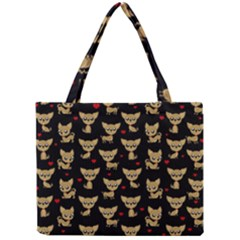 Chihuahua Pattern Mini Tote Bag by Valentinaart