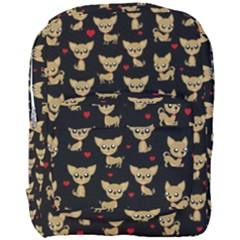 Chihuahua Pattern Full Print Backpack by Valentinaart