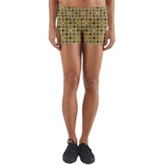 Persian Blocks Desert Yoga Shorts by jumpercat