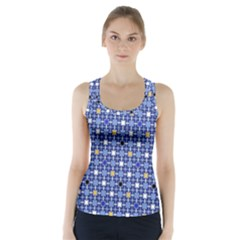 Persian Block Sky Racer Back Sports Top by jumpercat