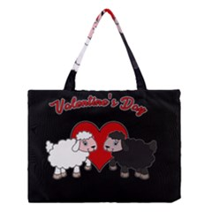 Valentines Day   Sheep  Medium Tote Bag by Valentinaart