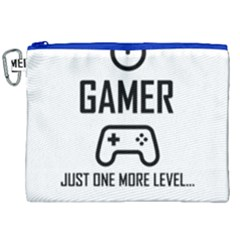 Gamer Canvas Cosmetic Bag (xxl) by Valentinaart