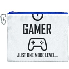 Gamer Canvas Cosmetic Bag (xxxl) by Valentinaart