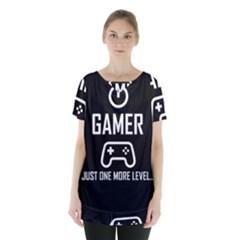 Gamer Skirt Hem Sports Top by Valentinaart