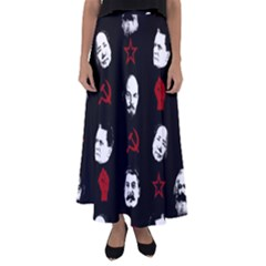 Communist Leaders Flared Maxi Skirt by Valentinaart