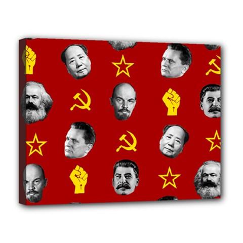 Communist Leaders Canvas 14  X 11  by Valentinaart