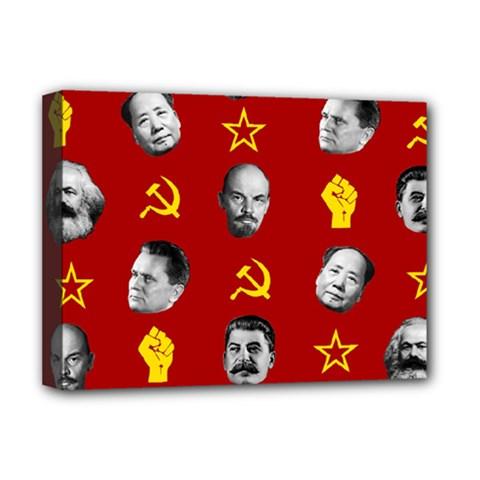 Communist Leaders Deluxe Canvas 16  X 12   by Valentinaart