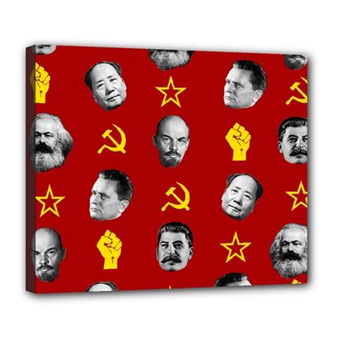 Communist Leaders Deluxe Canvas 24  X 20   by Valentinaart