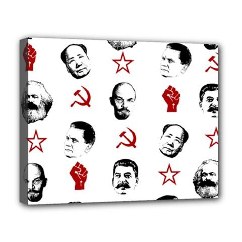 Communist Leaders Deluxe Canvas 20  X 16   by Valentinaart