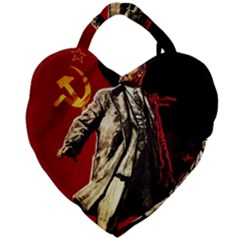 Lenin  Giant Heart Shaped Tote by Valentinaart