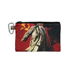 Lenin  Canvas Cosmetic Bag (small) by Valentinaart