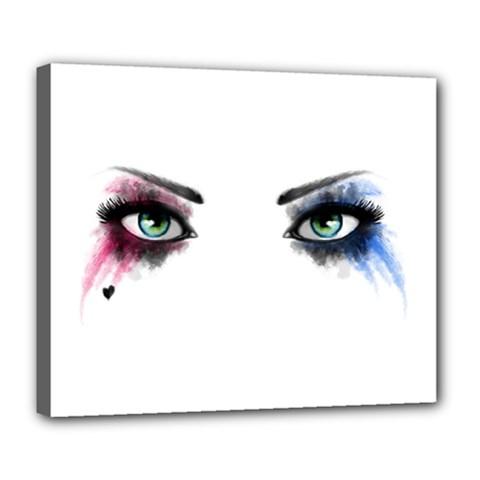 Look Of Madness Deluxe Canvas 24  X 20   by jumpercat