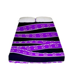 Purple Tentacles Fitted Sheet (full/ Double Size) by jumpercat