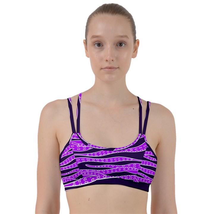 Purple Tentacles Line Them Up Sports Bra