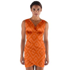 Seamless Pattern Design Tiling Wrap Front Bodycon Dress