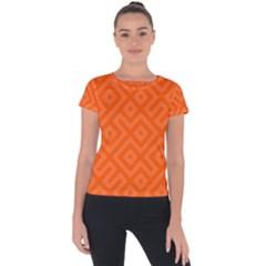Seamless Pattern Design Tiling Short Sleeve Sports Top