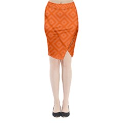 Seamless Pattern Design Tiling Midi Wrap Pencil Skirt