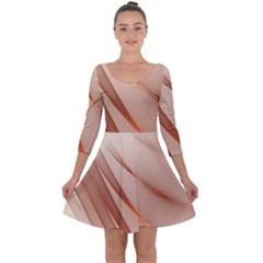 Background Light Glow Abstract Art Quarter Sleeve Skater Dress