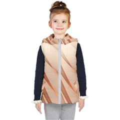 Background Light Glow Abstract Art Kid s Puffer Vest