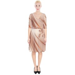 Background Light Glow Abstract Art Wrap Up Cocktail Dress