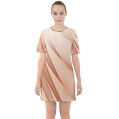 Background Light Glow Abstract Art Sixties Short Sleeve Mini Dress