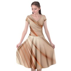 Background Light Glow Abstract Art Cap Sleeve Wrap Front Dress