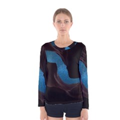 Abstract Adult Art Blur Color Women s Long Sleeve Tee