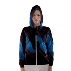 Abstract Adult Art Blur Color Hooded Wind Breaker (women)